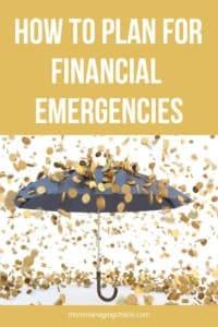 emergency expenses list
