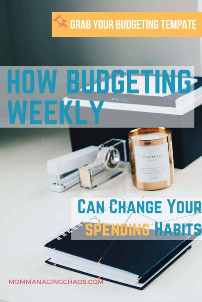 weekly budgeting at a desk