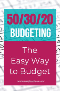 the 50/30/20 budget explained