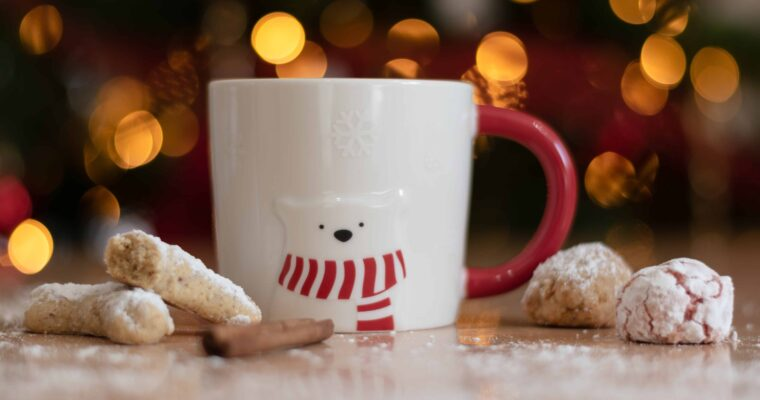 stocking stuffer ideas for toddlers like a christmas cup and cookies