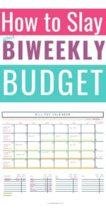 Are you struggling with the best way to create a monthly budget with a biweekly paycheck? Learn how to organize bill lists, set up expenses, use a budget calendar and more. Start managing your money like a boss, today! Budget | How to Create a Budget | Budgeting Finances | Paycheck Budgeting | Budgeting Money #mommanagingchaos
