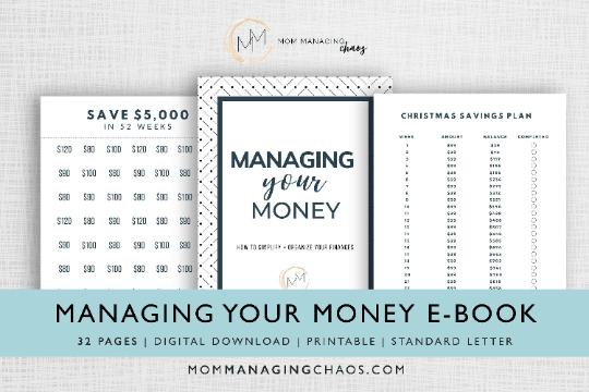 managing your money budgeting workbook